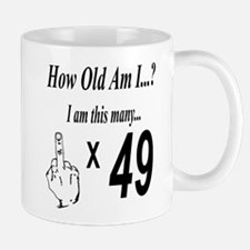 how old am I 49 Mugs