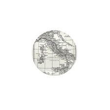 Augustus' Italy Map Mini Button (10 pack)