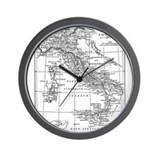 Augustus' Italy Map Wall Clock