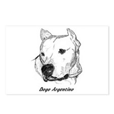 Cute Dogo argentino Postcards (Package of 8)