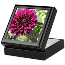Purple Dahlia Keepsake Box