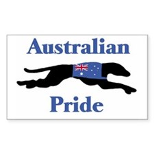 Greyhound Aussie Pride Rectangle Decal