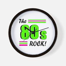 'The 80s Rock!' Wall Clock