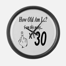 Cute 30 years old Large Wall Clock