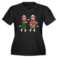 2-sockmonkey_luaucouple01 Plus Size T-Shirt