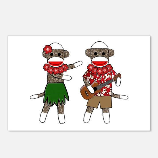 Funny Sock monkey Postcards (Package of 8)
