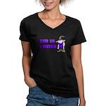 SON OF A WITCH Women's V-Neck Dark T-Shirt