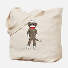 Cute Kids sock monkey Tote Bag