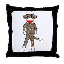 Cute Monkey Throw Pillow