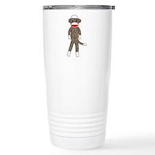 Sock Monkey Thermos Mug