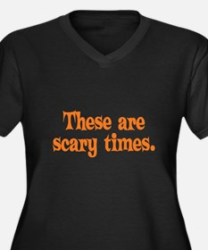 Scary Times Halloween Women's Plus Size V-Neck Dar