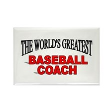"""The World's Greatest Baseball Coach"" Rectangle Ma"