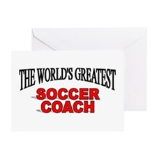 """""""The World's Greatest Soccer Coach"""" Greeting Card"""