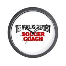 """The World's Greatest Soccer Coach"" Wall Clock"