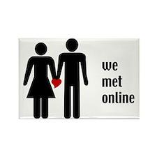 we met online Rectangle Magnet