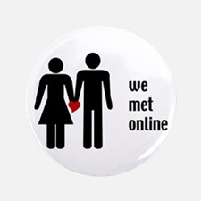 "we met online 3.5"" Button"