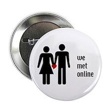 """we met online 2.25"""" Button"""