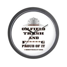 American Oil Field Trash Wall Clock