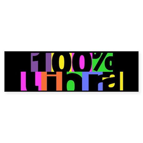 100 Percent Libra Bumper Sticker