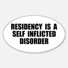 Medical Residency Oval Decal