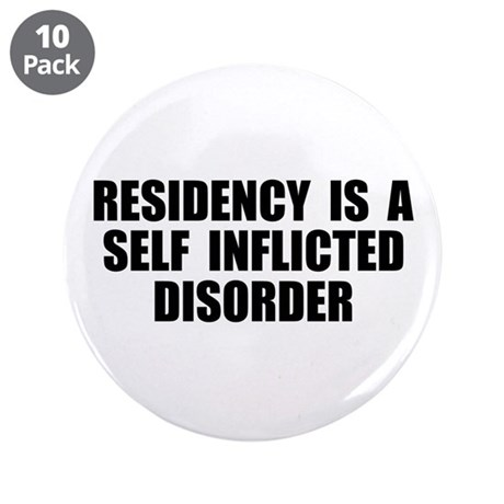 """Medical Residency 3.5"""" Button (10 pack)"""
