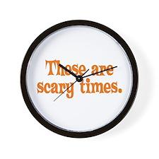 Scary Times Halloween Wall Clock