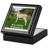 Norwegian fjord horse Square Keepsake Boxes