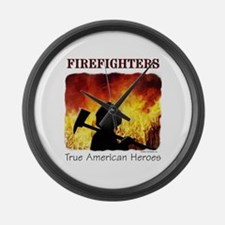 Firefighters - True American Large Wall Clock