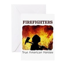Firefighters - True American Greeting Cards (Pk of