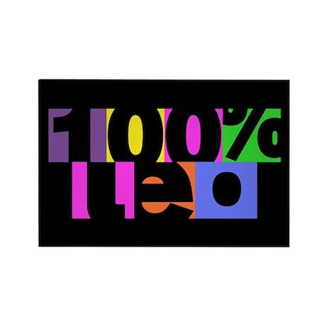 100 Percent Leo Rectangle Magnet (10 pack)