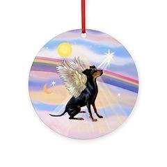 Manchester Terrier Angel Keepsake (Round)