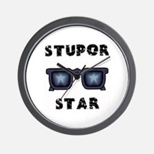 Super Star = Stupor Star Wall Clock