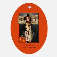 Take A Flight With Me orange Oval Ornament
