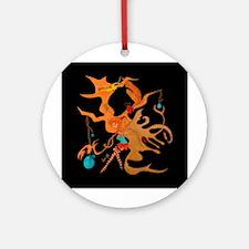"""Elf, fairy, dragon, ladybug. Ornament (Round"