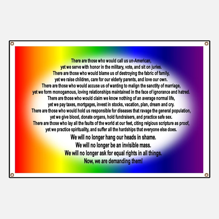 """Gay Rights"" Banner"