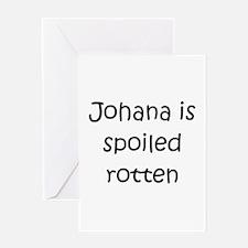 Unique Johana Greeting Card