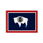 Wyoming State Flag on Rectangle Magnet (100 pack)