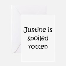 Funny Justine Greeting Card