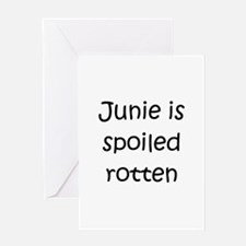 Junie Greeting Card