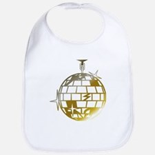 Gold Disco Ball Bib