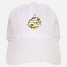 Gold Disco Ball Baseball Baseball Cap