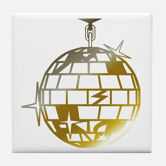 Gold Disco Ball Tile Coaster
