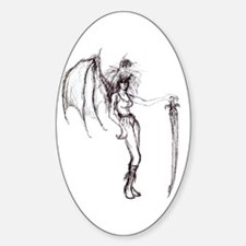 DEMON 001 Oval Decal