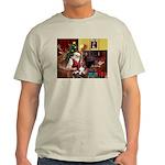 Santa's Basset Hound Light T-Shirt