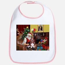 Santa's Basset Hound Bib