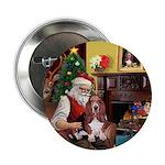 Santa's Basset Hound Button