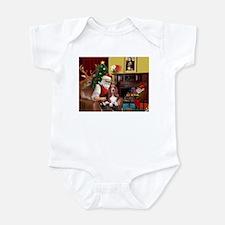 Santa's Basset Hound Infant Bodysuit