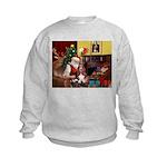 Santa's Basset Hound Kids Sweatshirt