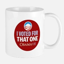 I Voted for That ONE Obama Red Mug
