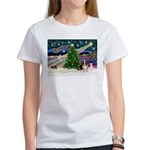 Xmas Magic - Basset Women's T-Shirt